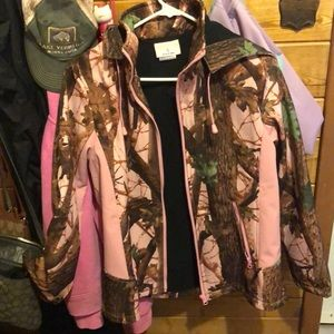 Pink camouflage jacket